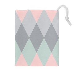 Modern Argyle Drawstring Pouches (extra Large) by CedarandVine