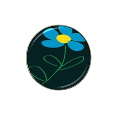 Whimsical Blue Flower Green Sexy Hat Clip Ball Marker (10 Pack) by Mariart