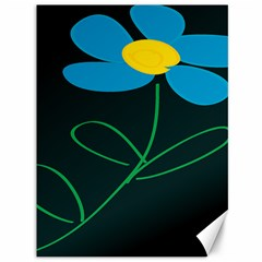 Whimsical Blue Flower Green Sexy Canvas 36  X 48   by Mariart