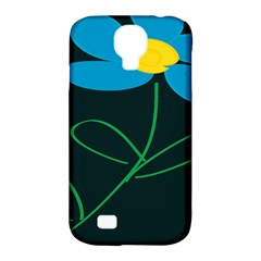 Whimsical Blue Flower Green Sexy Samsung Galaxy S4 Classic Hardshell Case (pc+silicone) by Mariart