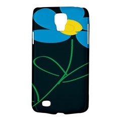 Whimsical Blue Flower Green Sexy Galaxy S4 Active by Mariart