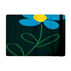 Whimsical Blue Flower Green Sexy Ipad Mini 2 Flip Cases by Mariart