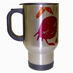 Animals Sea Flower Tropical Crab Travel Mug (silver Gray) by Mariart