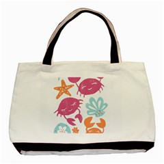 Animals Sea Flower Tropical Crab Basic Tote Bag (two Sides) by Mariart