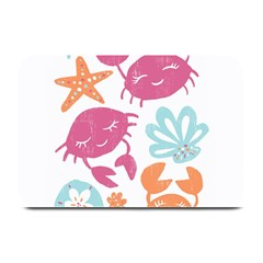 Animals Sea Flower Tropical Crab Plate Mats by Mariart