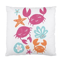 Animals Sea Flower Tropical Crab Standard Cushion Case (two Sides) by Mariart