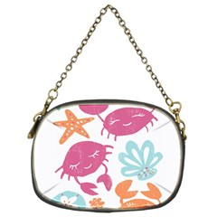 Animals Sea Flower Tropical Crab Chain Purses (two Sides)