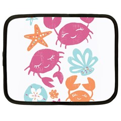 Animals Sea Flower Tropical Crab Netbook Case (xxl)  by Mariart