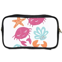 Animals Sea Flower Tropical Crab Toiletries Bags