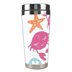 Animals Sea Flower Tropical Crab Stainless Steel Travel Tumblers by Mariart
