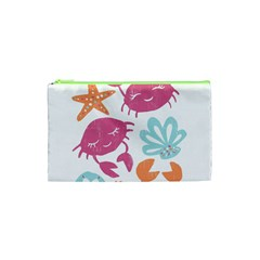 Animals Sea Flower Tropical Crab Cosmetic Bag (xs) by Mariart
