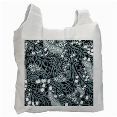 Abstract Floral Pattern Grey Recycle Bag (one Side) by Mariart