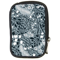 Abstract Floral Pattern Grey Compact Camera Cases by Mariart
