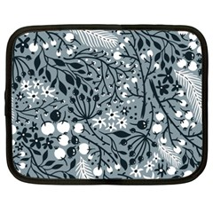 Abstract Floral Pattern Grey Netbook Case (xxl)  by Mariart