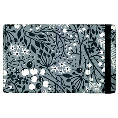 Abstract Floral Pattern Grey Apple Ipad 2 Flip Case by Mariart