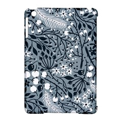 Abstract Floral Pattern Grey Apple Ipad Mini Hardshell Case (compatible With Smart Cover) by Mariart