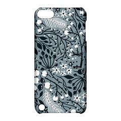 Abstract Floral Pattern Grey Apple Ipod Touch 5 Hardshell Case With Stand by Mariart