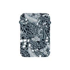Abstract Floral Pattern Grey Apple Ipad Mini Protective Soft Cases by Mariart
