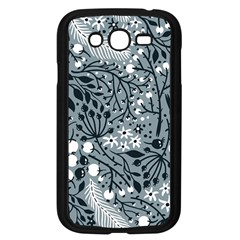 Abstract Floral Pattern Grey Samsung Galaxy Grand Duos I9082 Case (black) by Mariart