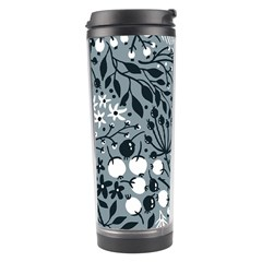 Abstract Floral Pattern Grey Travel Tumbler by Mariart