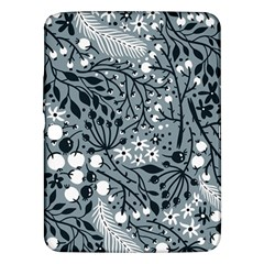 Abstract Floral Pattern Grey Samsung Galaxy Tab 3 (10 1 ) P5200 Hardshell Case  by Mariart