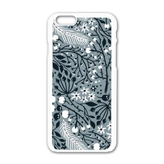 Abstract Floral Pattern Grey Apple Iphone 6/6s White Enamel Case by Mariart