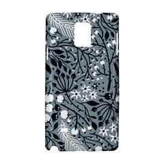 Abstract Floral Pattern Grey Samsung Galaxy Note 4 Hardshell Case by Mariart