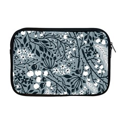 Abstract Floral Pattern Grey Apple Macbook Pro 17  Zipper Case by Mariart