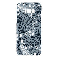 Abstract Floral Pattern Grey Samsung Galaxy S8 Plus Hardshell Case  by Mariart