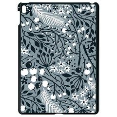 Abstract Floral Pattern Grey Apple Ipad Pro 9 7   Black Seamless Case by Mariart