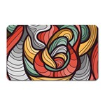 Beautiful Pattern Background Wave Chevron Waves Line Rainbow Art Magnet (Rectangular) Front