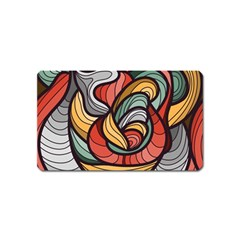 Beautiful Pattern Background Wave Chevron Waves Line Rainbow Art Magnet (name Card)