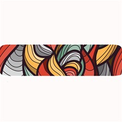 Beautiful Pattern Background Wave Chevron Waves Line Rainbow Art Large Bar Mats by Mariart