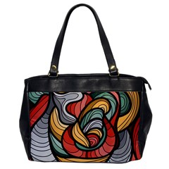 Beautiful Pattern Background Wave Chevron Waves Line Rainbow Art Office Handbags by Mariart