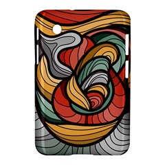 Beautiful Pattern Background Wave Chevron Waves Line Rainbow Art Samsung Galaxy Tab 2 (7 ) P3100 Hardshell Case  by Mariart