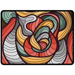 Beautiful Pattern Background Wave Chevron Waves Line Rainbow Art Double Sided Fleece Blanket (large)  by Mariart