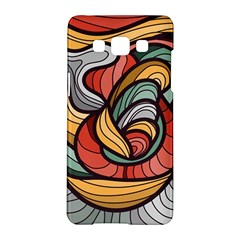 Beautiful Pattern Background Wave Chevron Waves Line Rainbow Art Samsung Galaxy A5 Hardshell Case  by Mariart
