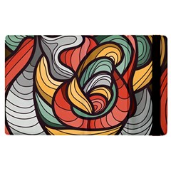 Beautiful Pattern Background Wave Chevron Waves Line Rainbow Art Apple Ipad Pro 9 7   Flip Case by Mariart