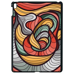 Beautiful Pattern Background Wave Chevron Waves Line Rainbow Art Apple Ipad Pro 9 7   Black Seamless Case by Mariart