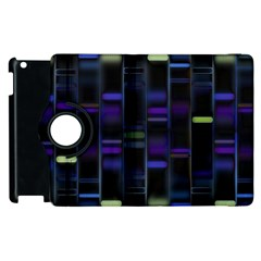 Biostatistics Line Blue Apple Ipad 3/4 Flip 360 Case by Mariart