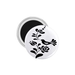 Birds Flower Rose Black Animals 1 75  Magnets by Mariart