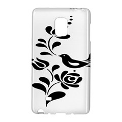 Birds Flower Rose Black Animals Galaxy Note Edge by Mariart