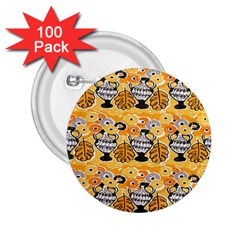 Amfora Leaf Yellow Flower 2 25  Buttons (100 Pack)  by Mariart
