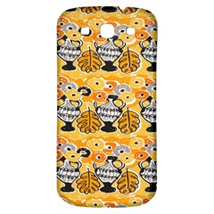 Amfora Leaf Yellow Flower Samsung Galaxy S3 S Iii Classic Hardshell Back Case by Mariart