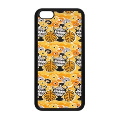 Amfora Leaf Yellow Flower Apple Iphone 5c Seamless Case (black) by Mariart