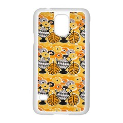 Amfora Leaf Yellow Flower Samsung Galaxy S5 Case (white) by Mariart