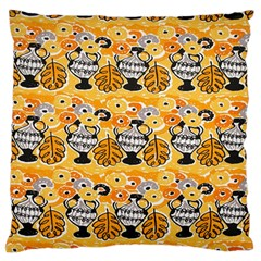 Amfora Leaf Yellow Flower Standard Flano Cushion Case (one Side) by Mariart