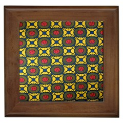 African Textiles Patterns Framed Tiles by Mariart