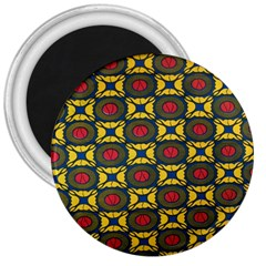 African Textiles Patterns 3  Magnets by Mariart