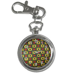African Textiles Patterns Key Chain Watches by Mariart